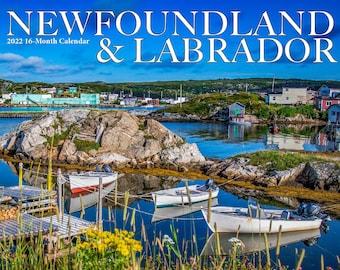 "2022 Large Newfoundland & Labrador Wall Calendar, 12x11.5"", calendar, newfoundland and labrador art, print, photo, St. John's, NL, NFLD,"