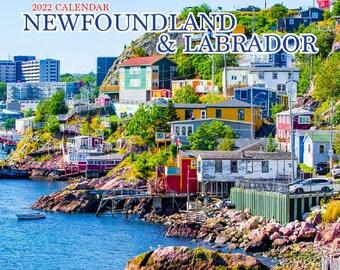 """2022 Small Newfoundland & Labrador Wall Calendar, 6.5x6.5"""", calendar, newfoundland and labrador art, print, photo"""