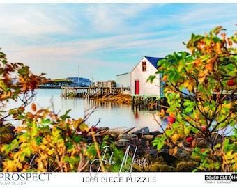 """19.6""""x27.5"""" 1000 piece Nova Scotia Jigsaw Puzzle. Nova Scotia gifts, Nova Scotia Print, Nova Scotia art, Nova Scotia, Prospect, Nova Scotia"""