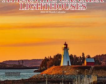 "2022 Large Atlantic Canada Lighthouse Wall Calendar, 12x11.5"", calendar, Nova Scotia, Halifax, Prince Edward Island, New Brunswick, Newfound"