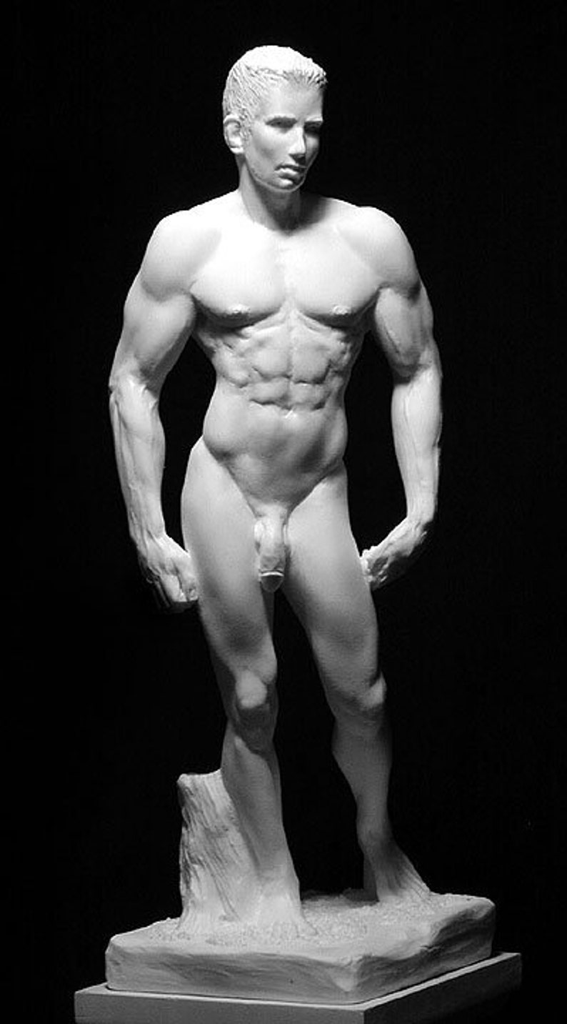 Ruth Lee Leventhal Jerry Nude Male Sculpture