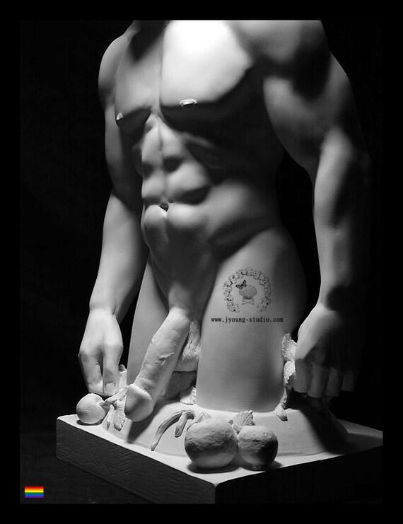 Thieves In My Garden Hellenic Priapus Male Nude Sculpture God Of Fertility Idol