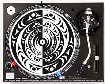 DJ slipmat Kings Crown Black DJ Industries