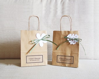 personalised white sweet bags