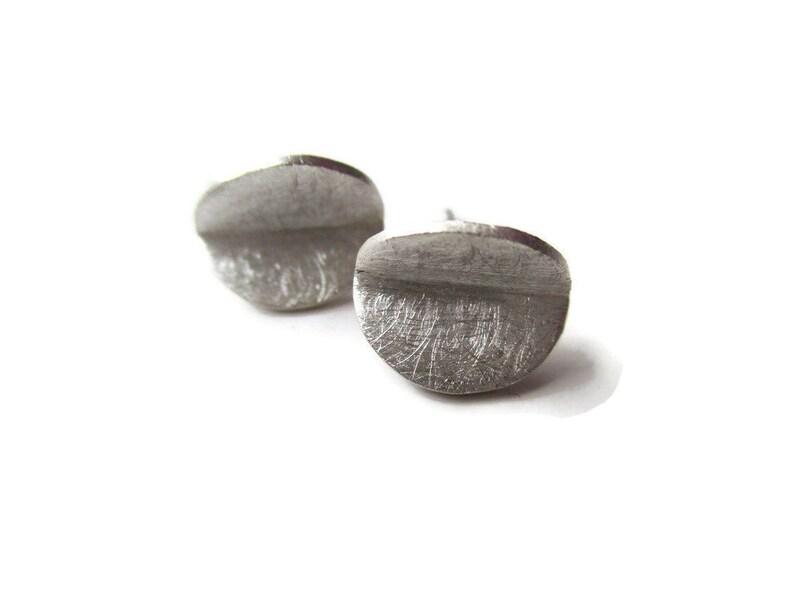 bfba71e95 Silver Stud Earrings Minimalist Earrings Origami Earrings | Etsy