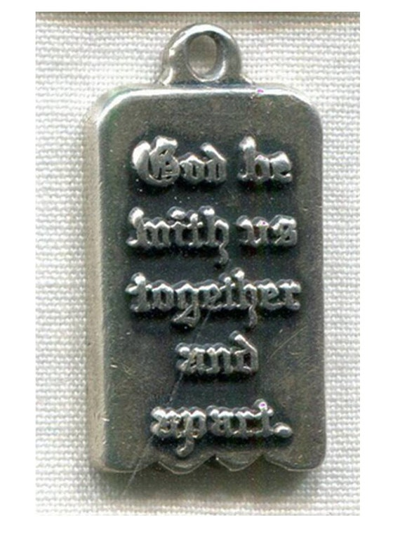 Vintage James Avery God Be With Us Together And Apart Mizpah Etsy