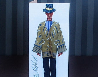 Small 3-D Fashion Greeting Card (Contemporary Charm 2015 Edition)
