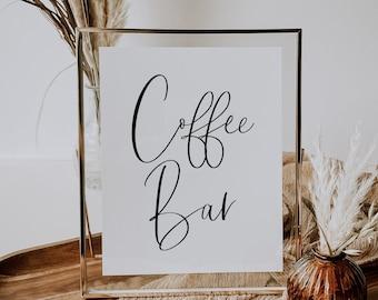 Printable Coffee Bar Sign, Graduation Party Sign, Shower Sign, Wedding Sign, (1) JPEG File, You Print, You Frame