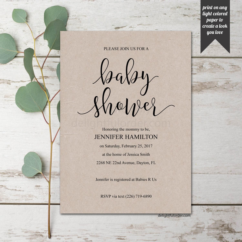 66a041c51 Editable Baby Shower Invitation, DIY, Baby Shower Invitation, Printable  Template, PDF, DIY Shower Invitation, You Print