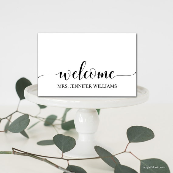 Editable Welcome Table Place Cards Tent Fold Table Setting | Etsy
