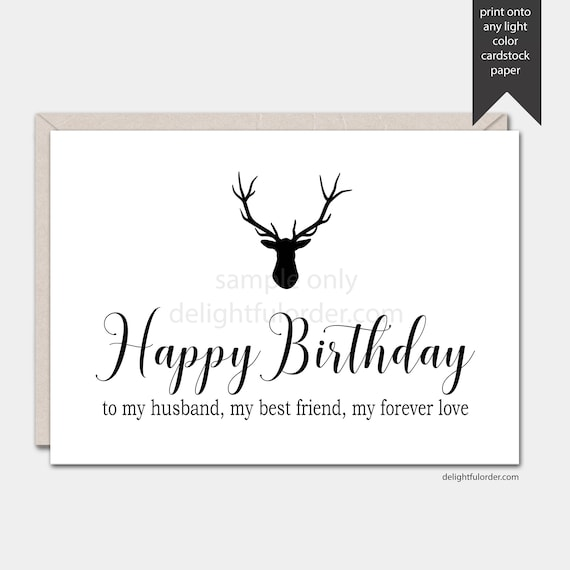 It's just an image of Printable Birthday Cards for Husband with homemade
