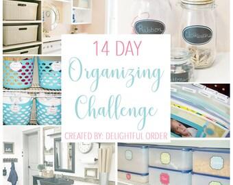 14 Day Organizing Challenge - Beginning 09/07/2021