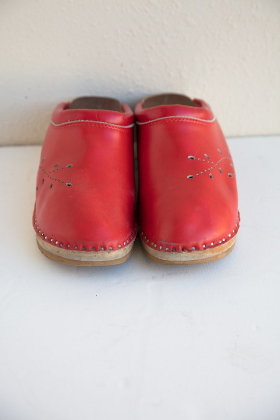 Red Troentorp Clogs, Christmas Clogs, Wooden Clogs