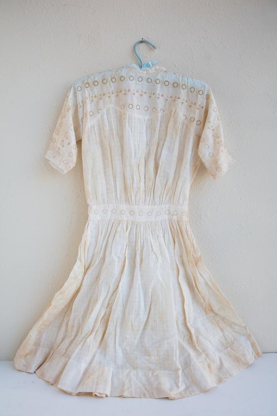 Antique Edwardian Lawn Dress, Short Wedding Dress,