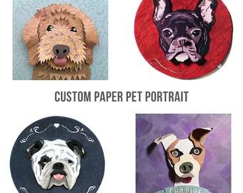 Custom Paper Pet Portrait - PIECE RESERVED