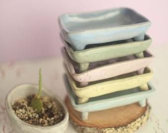 Pastel Classic Soap Dish- Ceramic Soap Dish- Vintage Style