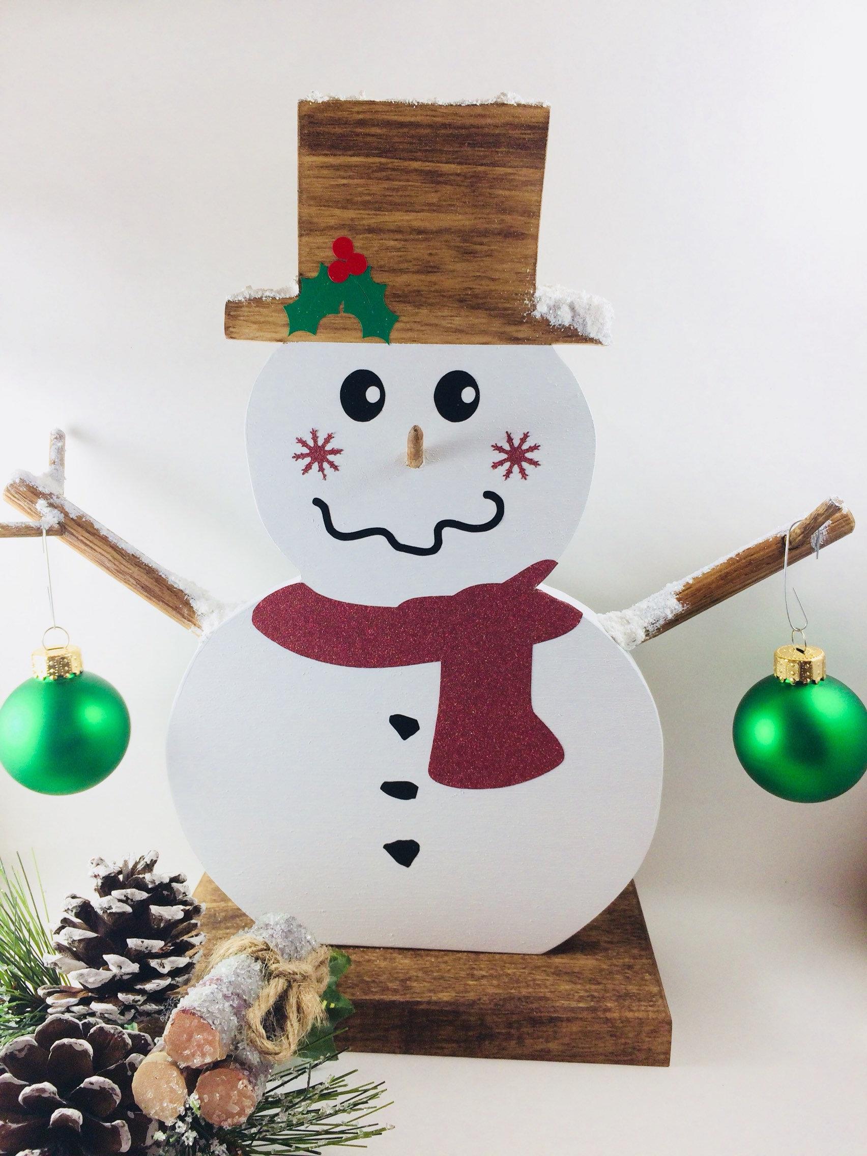 Snowman Ornament Holder Christmas Ornament Holder Etsy