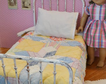 American Girl Heirloom Metal Doll Bed - Shabby Chic Style