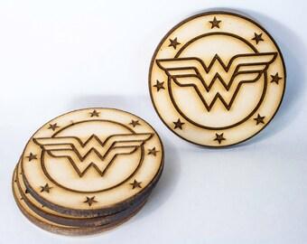 Wonder Woman Shield Coasters (Set of 4)