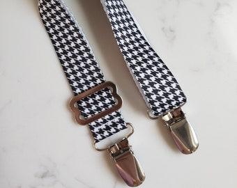 Black and White Houndstooth NURSING COVER CLIP - Breastfeeding Cover Clip - Adjustable Strap for Nursing
