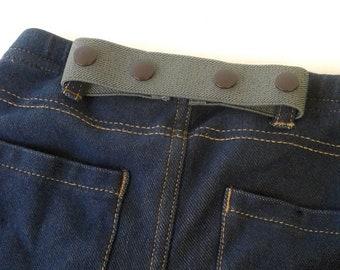 Olive Green Toddler Belt - Kids Belt Baby Belt - Adjustable Childrens Belt - ELASTIC SNAP BELT - Waist Cinch - Pant Cincher for Kids