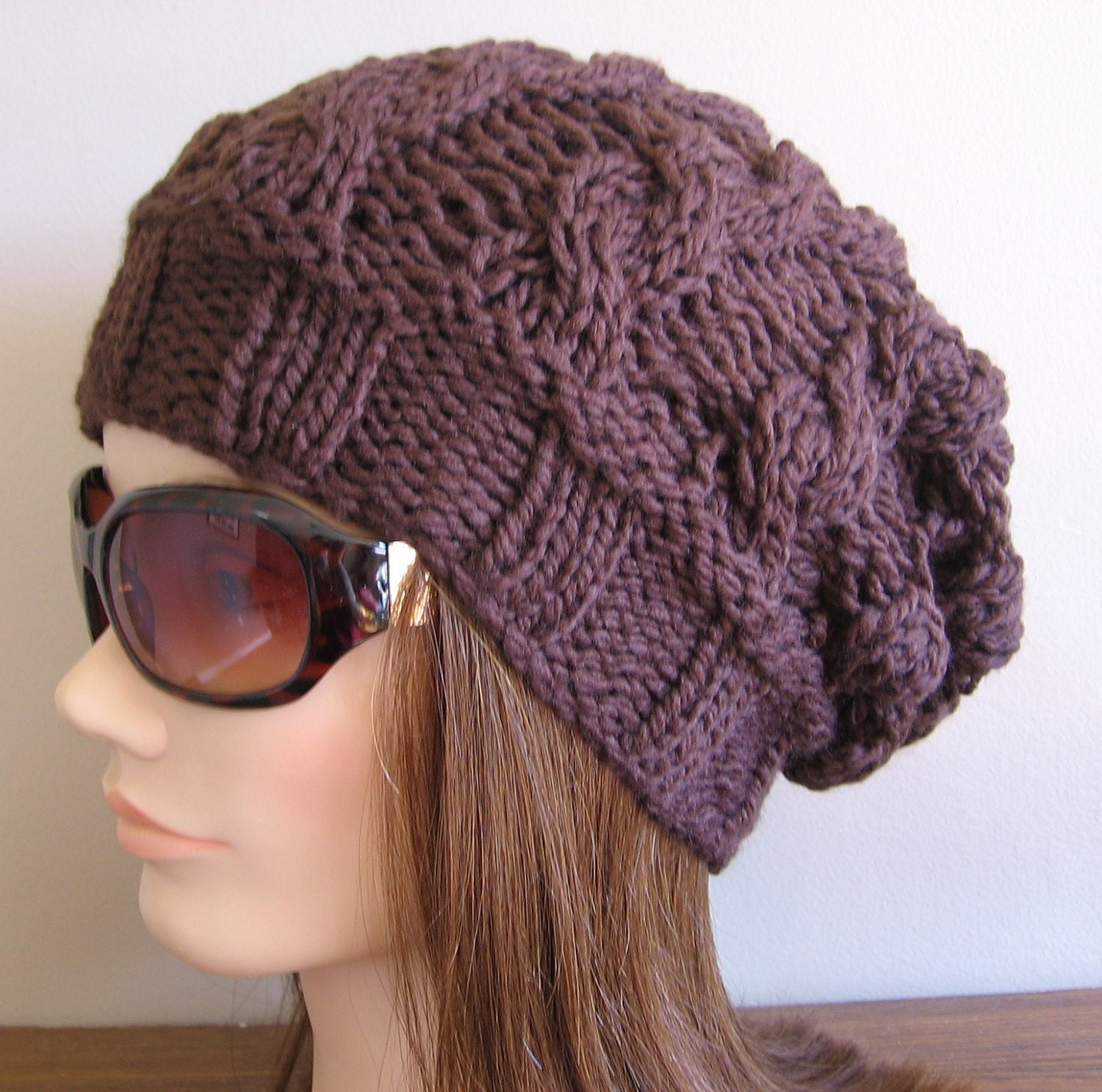 PDF Knitting Pattern - Knit Slouchy Hat / Lyra from ...