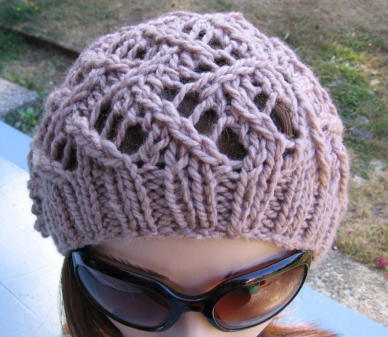 PDF Knitting Pattern Knit Slouchy Hat / Ziggy | Etsy