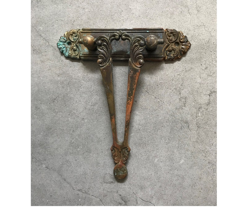 Antique Vintage Drawer Door Cabinet Pull Solid Brass Real Patina