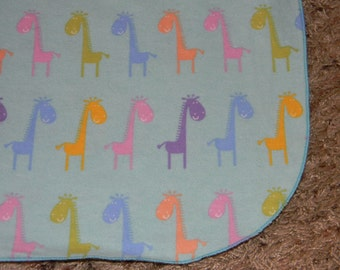 Blue Giraffe XL Receiving Blanket