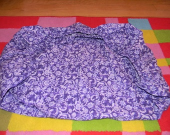 Purple Flowered Cotton Pack and Play Sheet