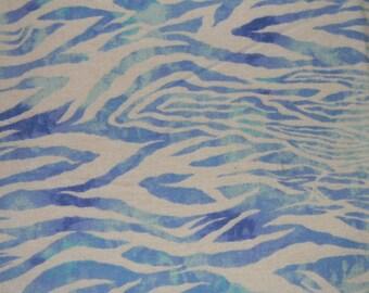 Blue and White Zebra Print XL Receiving Blanket