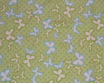 Green Butterfly XL Receiving Blanket