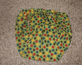 Paw Print (Green, Brown, Red, Blue, Yellow) Fitted Pack and Play Sheet