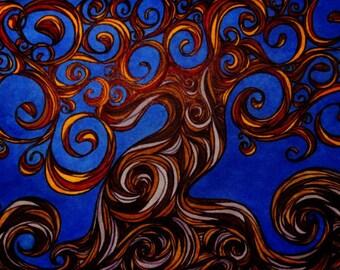 Abstract Tree- Giclee Print