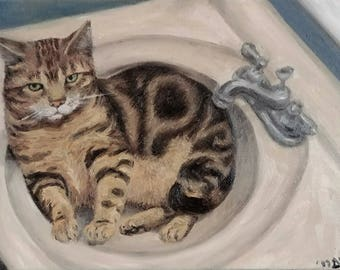 """Squeaky- Original Oil Painting- 9x12"""" oil on canvas"""