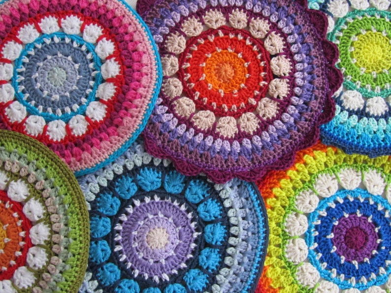 PDF Pattern Crochet Mandala/Potholder Rosetta image 0