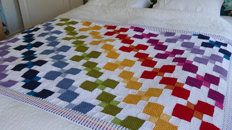 Tumbling Colours  Crochet Pattern image 0