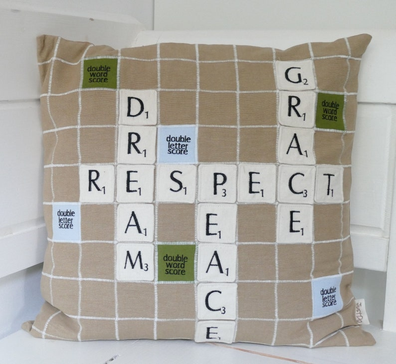 Scrabble Pillow Cover 20x20 inch image 0