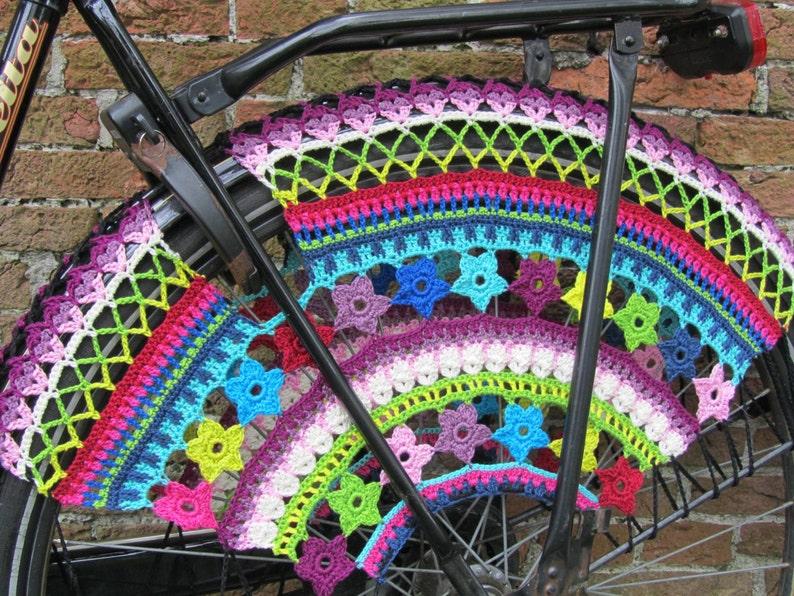 PDF Pattern  Color Burst Crochet Skirt Guards image 0