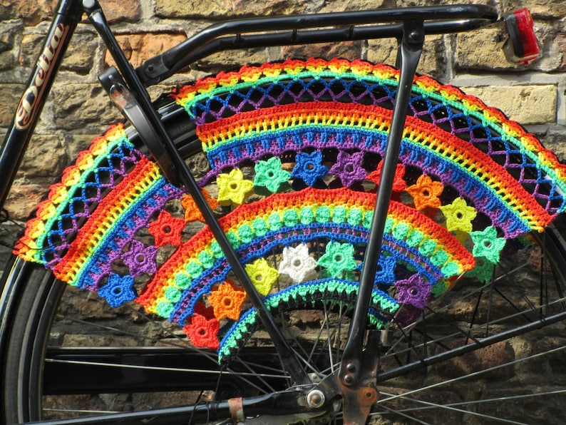 Color Burst Crochet Skirt Guards Made-to-Order image 0