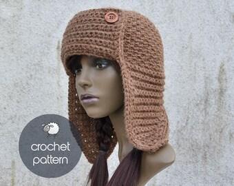 d0d38704430 Crochet Pattern - Quebec Trapper Hat - PDF file