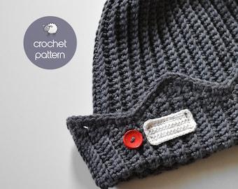 PDF Crochet Pattern - Jughead Jones Beanie / Crochet Whoopee Cap / Riverdale Beanie - (PDF file), Sizes: from 2 Months Old to XL Adult