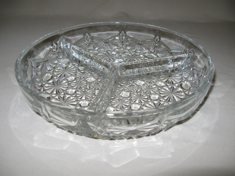 FNG Indonesia Clear Cut Candy Dish Daisy Cane Button