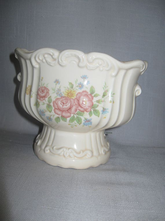 Vintage Ceramic China Victorian Music Box Vase Candy Dish Etsy