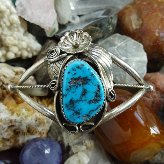 Native American Indian Sterling Silver 3 Stone Turquoise Ring Size 7 Largo