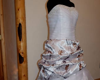 NEW Camo Wedding Gown/Truetimber Conceal snow-LAST ONE- Plus size 24/26