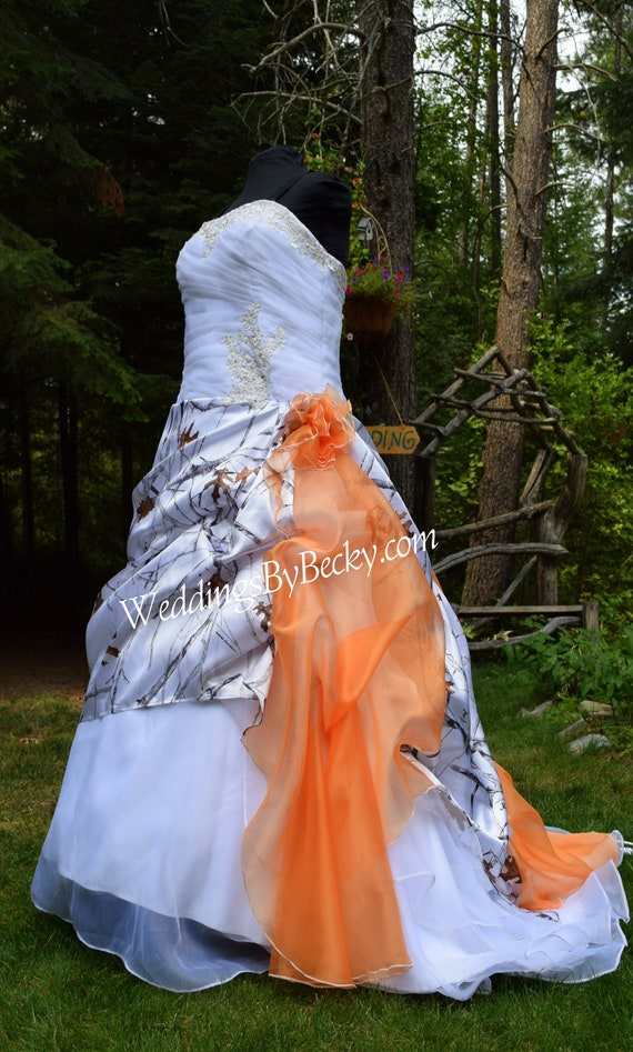 NEW Camo Wedding Gown/Truetimber snow-LAST ONE- Plus size 22/24