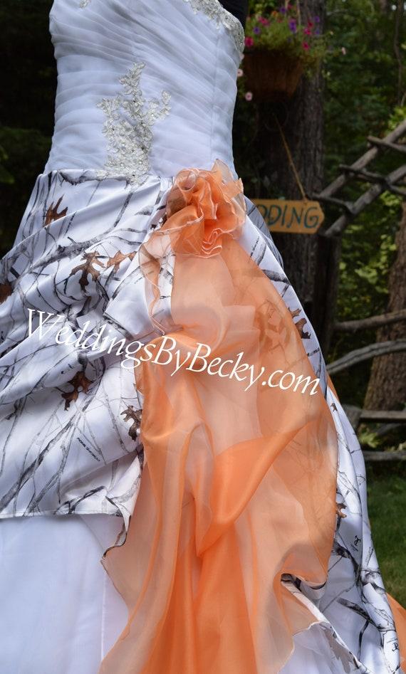 NEW Camo Wedding Gown/Truetimber snow-LAST ONE- Plus size 22/24