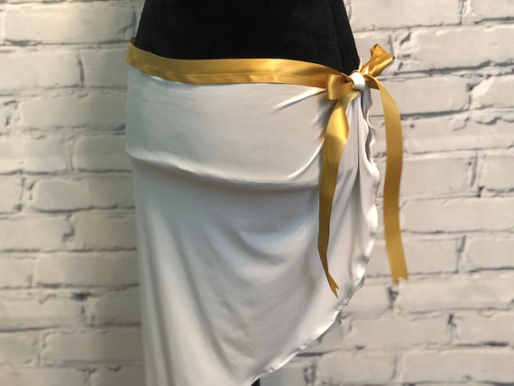 Toga Party or EDC Costume Rave Wear EDC Outfit EDC Bra edm Outfit Exotic Dance Bra White and Gold Greek Goddess Rave Bra Rave Outfit
