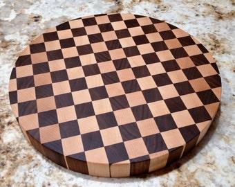 Handmade in Vermont Cutting Board | Cheese Board | End Grain Circle